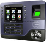 Máquina de tarjeta de tiempo de la pantalla del color de los Muti-Lenguajes TFT
