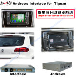 Interface vidéo de navigation Android pour VW Tiguan, Sharan, Passat (MQB) Mise à niveau Navigation tactile, WiFi, Bt, Mirrorlink, HD 1080P, Google Map, Play Store