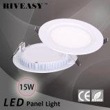 panneau acrylique rond de l'éclairage LED 15W avec des voyants de Ce&RoHS DEL