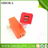 Ports USB 2 micro de chargeur de mur du chargeur USB de course de l'universel 12 V pour le chargeur androïde d'adaptateur de mur de tablette