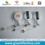 Unbelegte weiße heiße kundenspezifische Abzeichen-Bandspulenhalterung-Standardplastikretraktoren