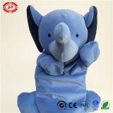 파란 코끼리 동물성 모양 장난감 쇼 아기 꼭두각시