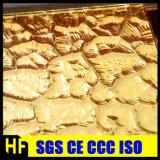 Goldene Wand-Kristallglas-gehammerte Mosaik-Fliesen, goldenes Bling Effekt-Mosaik-Kristallglas