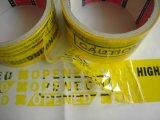 O logotipo feito sob encomenda imprimiu a fita vaga evidente da segurança da calcadeira; Fita vaga inalterável