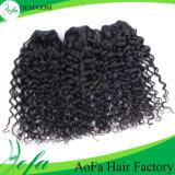 工場毛は広州からのブラジルの人間のカーリーヘアーの拡張を継ぎ合わせる