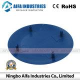 Molde azul plástico personalizado da tampa