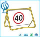 Sinal do frame do carrinho do balanço da segurança da estrada