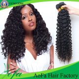 100%Indian Virgin HairかDeep Wave Hair/Remy Human Hair Extension