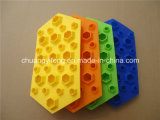 Plateau en forme de diamant de cube en chocolat de glace de silicones de ménage de qualité