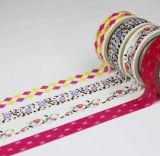 Decoración de la flor de cinta de papel de impresión de encaje