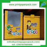 El favor respetuoso del medio ambiente de encargo de la cartulina del envasado de alimentos encajona el rectángulo de papel del chocolate con la ventana del PVC