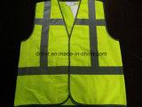 Padrão amarelo 100%Polyester da gripe Y da veste da segurança