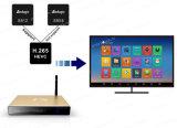 Rectángulo androide TV del rectángulo del androide de Amlogic S812 de la base elegante superior determinada TV del patio con todo el vídeo de vivienda de aluminio de Kodi 16.0