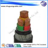 Câble blindé de courant électrique de XLPE d'isolation de gaine résistante au feu ignifuge de PVC