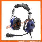 Bruit duel d'écouteur de pilote de fiche annulant des écouteurs