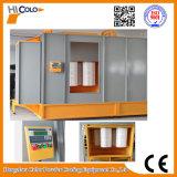 Cabine de pulverizador eletrostática do pó do transporte aéreo manual