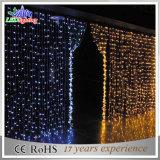 Indicatore luminoso bianco della tenda di festa LED della decorazione esterna variopinta di natale