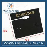 Cartão plástico branco do indicador do brinco da jóia do gancho das vendas elevadas (CMG-106)