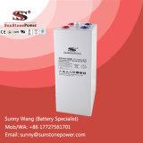 Bateria de armazenamento tubular da potência solar do gel da bateria 2volt 1200AMP de Opzv da placa