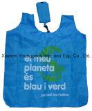 La publicité du sac d'emballage pliable de porteur d'achats de polyester réutilisable fait sur commande promotionnel d'Eco