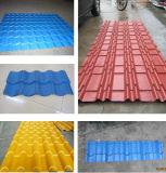 Tuile de toit formant la chaîne de production