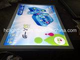 Blocco per grafici chiaro acrilico ultra sottile chiaro della foto della casella LED LED LED di Lit aperta della barriera dello schiocco
