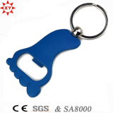 Promotion Gifts Foot Shape Bottle Opener avec Key Ring
