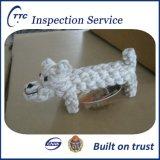 De dienst van de inspectie voor katoenen kabelstuk speelgoed voor huisdieren in China
