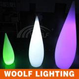 Changement de couleur LED Décoration intérieure Lampe de table en plastique pour eau