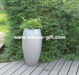 Fo-231 Engraved Fiberglass Flower Pot per Decorate