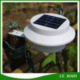 Lámpara solar redonda del jardín de la cerca de la luz del canal del LED con altas LED iluminaciones al aire libre brillantes de 3PCS