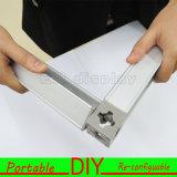 Étalage en aluminium réutilisable portatif d'exposition de Slatwall