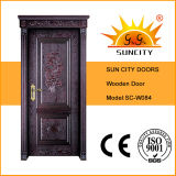 Innen-MDF-bündige furnierte hölzerne Türen für Wohnung (SC-W084)
