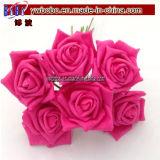 Fiori artificiali della Rosa della gomma piuma di Colourfast del fiore della decorazione di cerimonia nuziale (W2035)