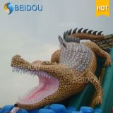 Haltbares preiswertes kundenspezifisches riesiges Krokodil-erwachsenes aufblasbares Prahler-Plättchen für Verkauf