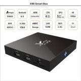 X96 인조 인간 6.0 텔레비젼 상자 Amlogic 쿼드 코어 텔레비젼 상자 6.0 인조 인간 텔레비젼 상자 Amlogic S905X X96 인조 인간 미디어 플레이어는 OEM ODM를 제공한다