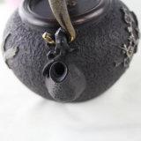 Theepot van de Pot van de Thee van het ijzer en van het Messing de Japanse Chinese Klassieke