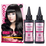 100% shampooings gris de couvert de couleur des cheveux en 5 mn