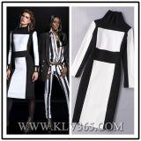 Оптовая продажа платья Bodycon повязки втулки 2016 новая повелительниц Colorblock офиса конструкции длинняя