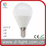 Bulbo 240lm 2700k 4200k 6500k do diodo emissor de luz de G45p E14 3W