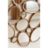 Зеркало стены Венеци золота способа античным обрамленное металлом