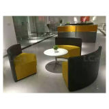 Sofa d'Europe du Nord de Holstery de tissu de cuir de type
