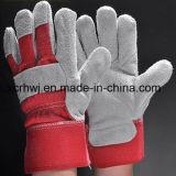 Короткие перчатки заварки, перчатки безопасности работая, 10.5 '' залатанных перчаток ладони кожаный, усиленные перчатки ладони кожаный работая, изготовление перчаток водителя