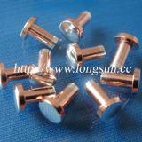 Rebites de cobre de prata do contato do metal de Agcu usados para relés de 12V/24V AC/DC