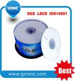 CD Negro! ! Blanco Negro CDR 52X CD de 700 MB de 80 min