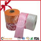 Rolo impresso plástico da fita do cetim para a decoração