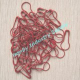 Rote Coloured Pear Shaped Metal Sicherheitsnadel für Hanging Tag