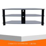 Affissione a cristalli liquidi di alluminio TV Table di Oval Tempered Glass per Big Television