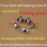 Pan Lavadora Tornillo de cabeza Torx del tornillo tornillo de cabeza troncocónica Tema B Autoperforantes Tornillo Forma B