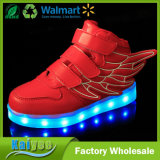 Licht-blinkende Licht-Flügel Magie USB-LED, die Schuhe aufladen